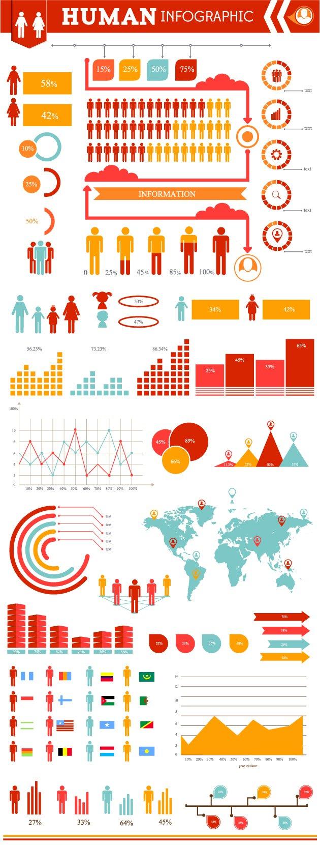 human-infographic-vector