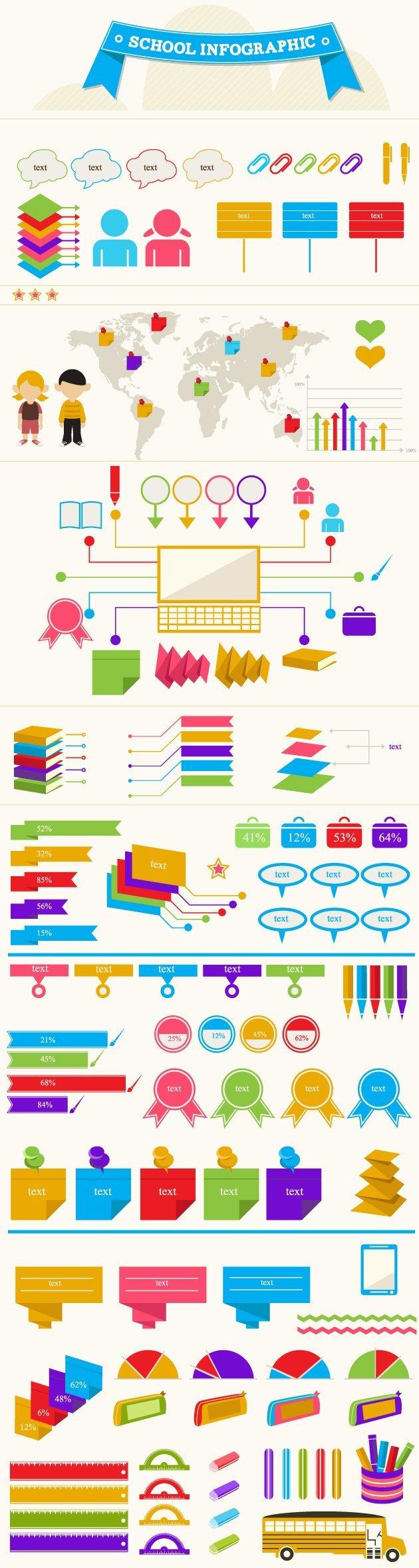 school-infographic-vector