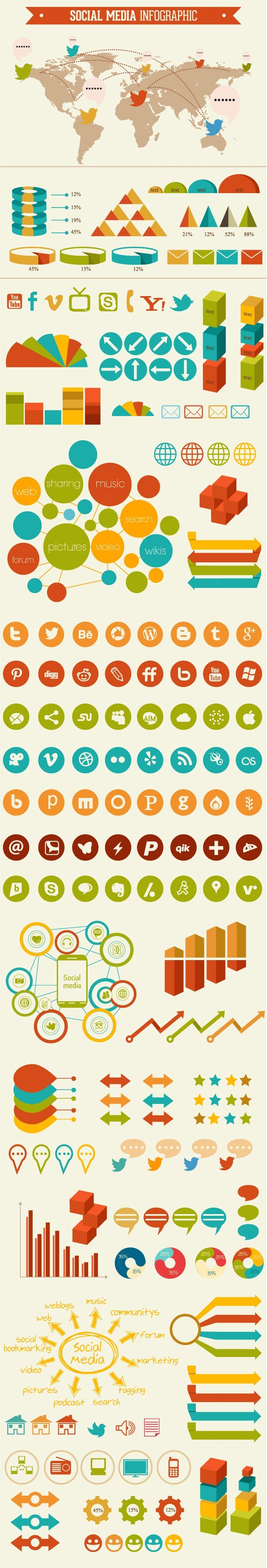 social-media-infographic-vector