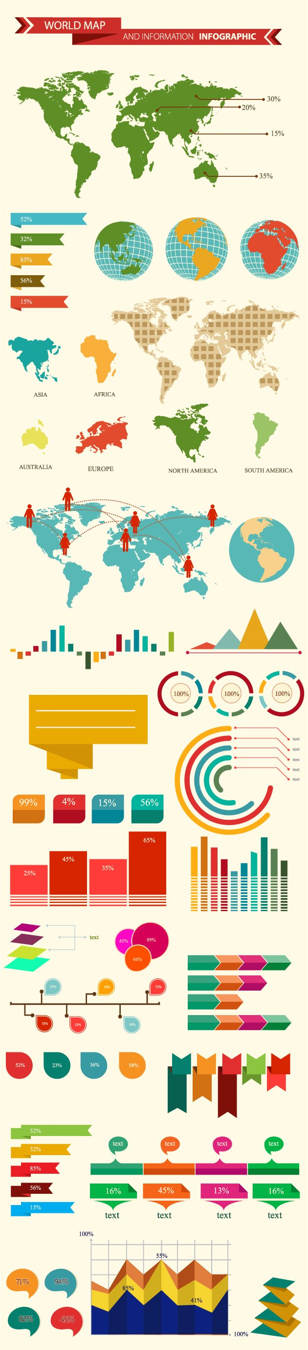 world-map-and-information-infographic-vector