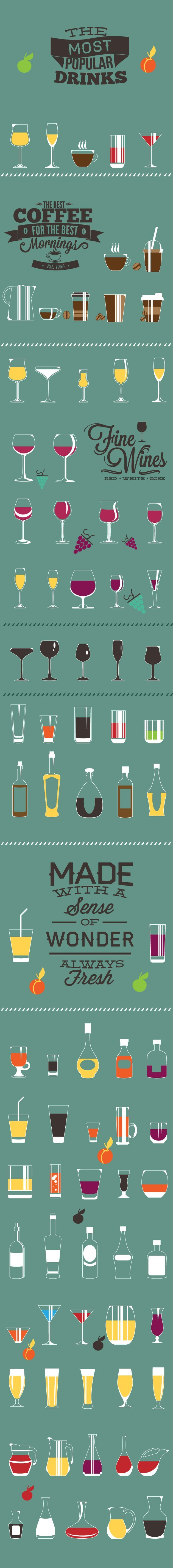 designtnt-beverage-flat-vector-elements-large