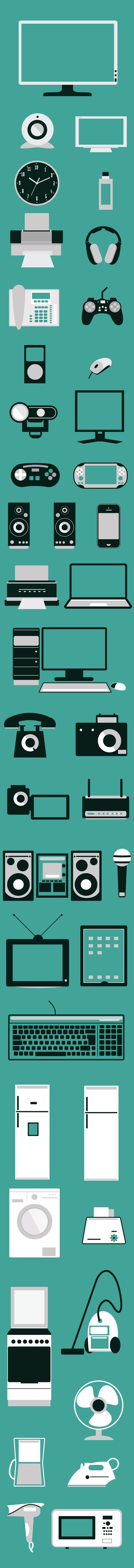 designtnt-electronic-devices-flat-vector-elements-large