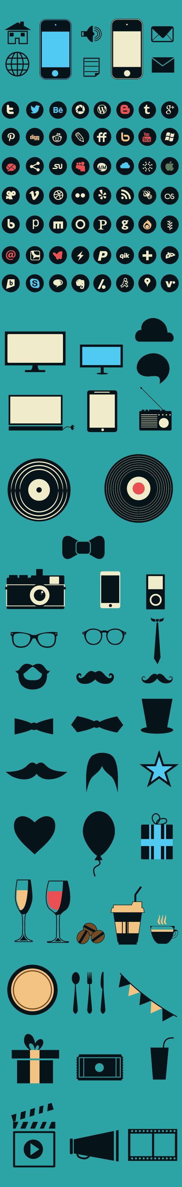 designtnt-social-media-flat-vector-elements-large