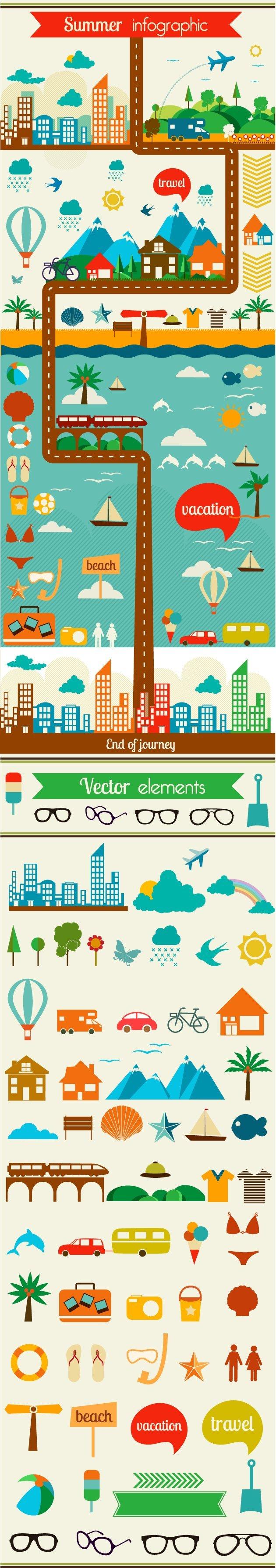 designtnt-vector-summer-infographic-large