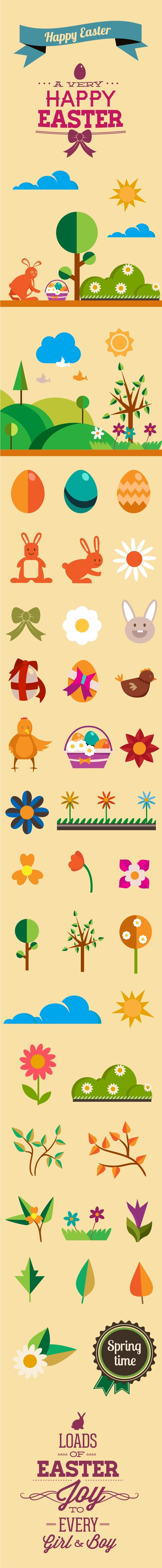 spring-flat-vector-elements-large