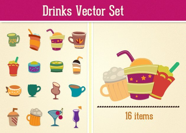 designtnt drinks vector small Deal of the Week: $4,704 worth of Top Quality Resources for Only $79