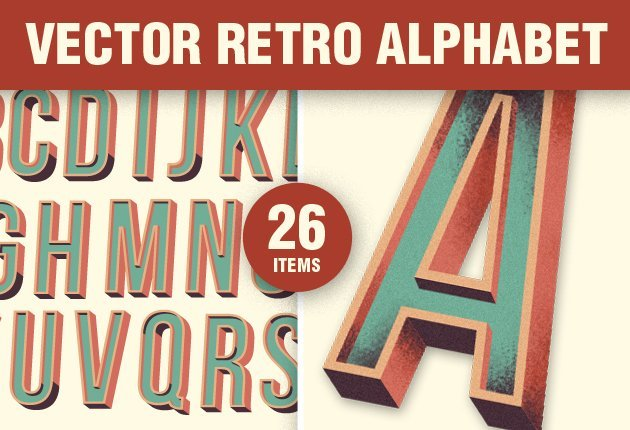 designtnt vector retro alphabet 1 small Deal of the Week: $4,704 worth of Top Quality Resources for Only $79