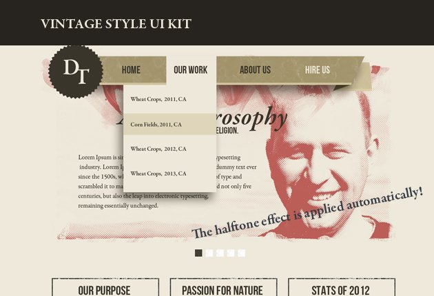 designtnt web vintage ui kit small Deal of the Week: $4,704 worth of Top Quality Resources for Only $79