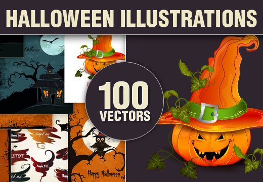 Friday Special: 100 Halloween Vector Illustrations with an Extended License – Only $5.9