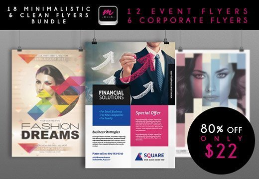 18 Premium Corporate Event Flyer Templates with a Commercial – Corporate Flyer Template
