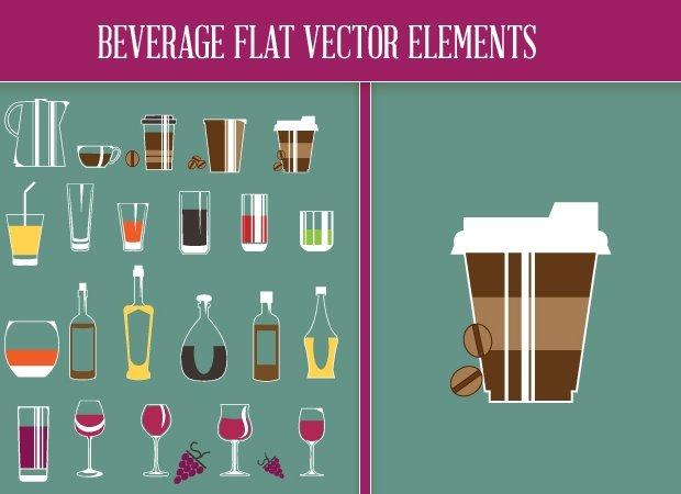 designtnt-beverage-flat-vector-elements-small