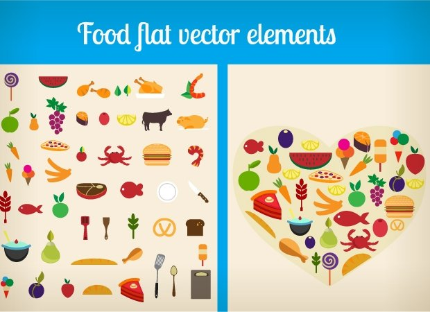 designtnt-food-flat-vector-elements-small
