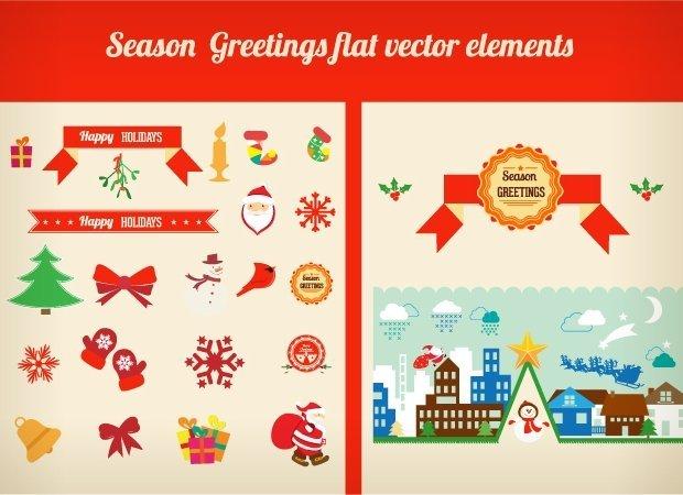 season-greetings-flat-vector-elements-small