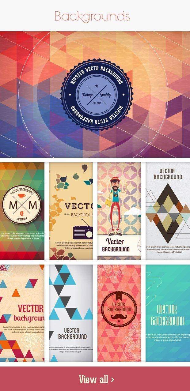 backgrounds small Deal of the Week: 600+ Top Quality Vector Illustrations – Only $49