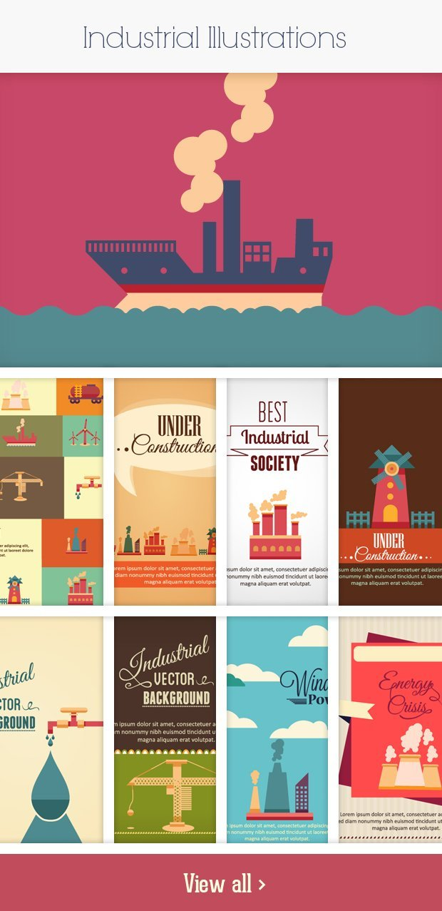 industrial small Deal of the Week: 600+ Top Quality Vector Illustrations – Only $49