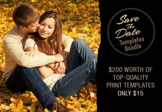 Save the Date Bundle: $200 worth of Top-Quality Print Templates ...