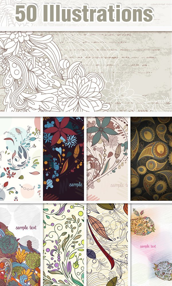 50 doodle floral preview small Deal of the Week: $4,704 worth of Top Quality Resources for Only $79