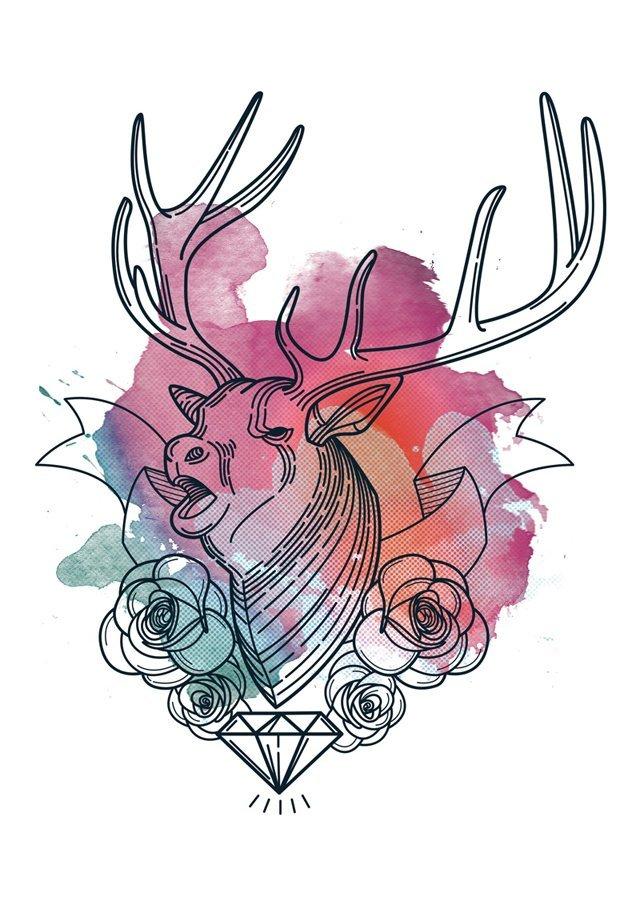 designious-geometric-stag-t-shirt