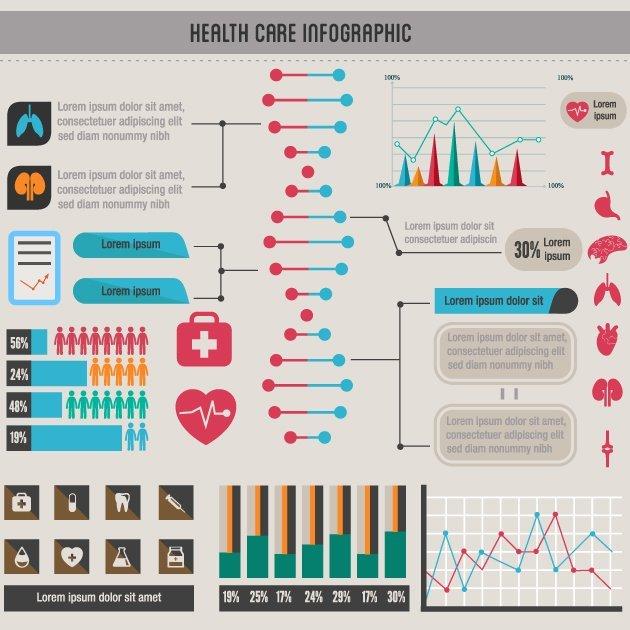 designtnt-vector-healthcare infographic