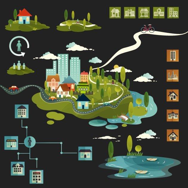 designtnt-vector-rezidential infographic