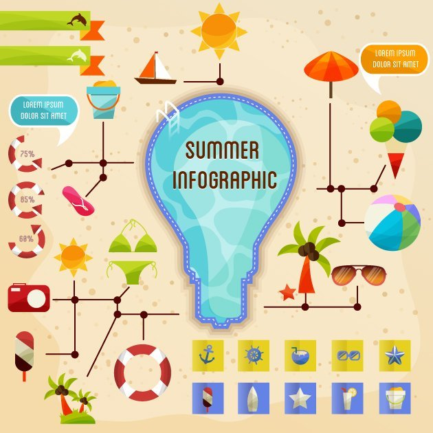 designtnt-vector-summer-infographic
