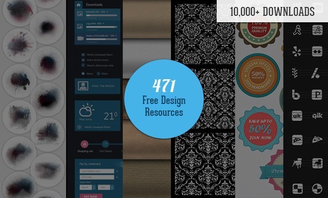 Download 471 Awesome Free Design Resources in One Download