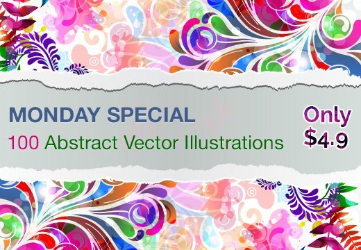 Monday Special: 100 Abstract Vector Illustrations for Only $4.9