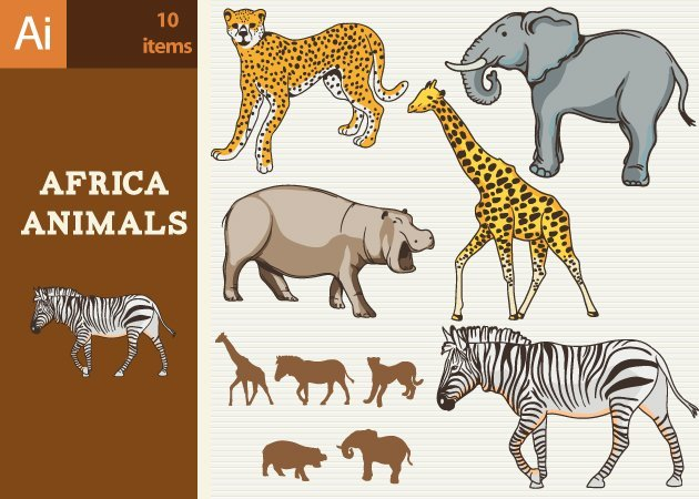 Designtnt-Vector-Africa-Animals-Vector-Set-1-small