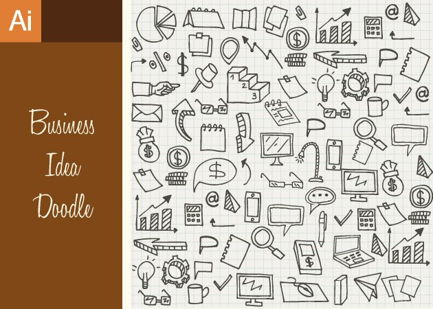 Designtnt-Vector-Business-Idea-Doodle-Set-1-small