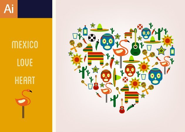 Designtnt-Vector-Mexico-Love-Heart-Vector-Set-1-small