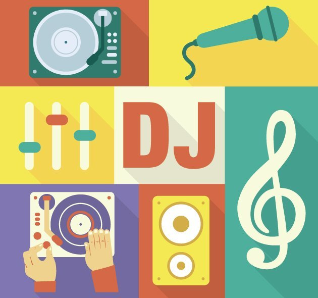 designtnt-vector-Disc-Jockey-icons