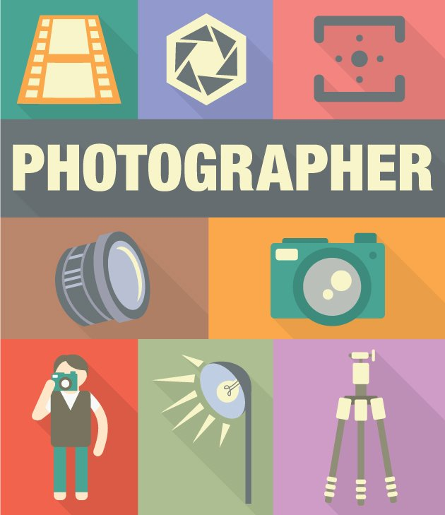 designtnt-vector-Photographer-icons