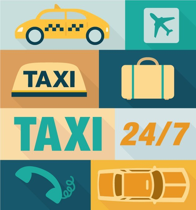designtnt-vector-Taxi-icons