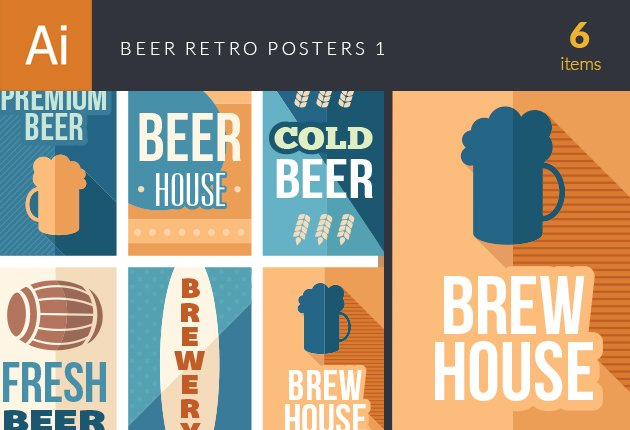 designtnt-vector-beer-retro-posters-set-1-small