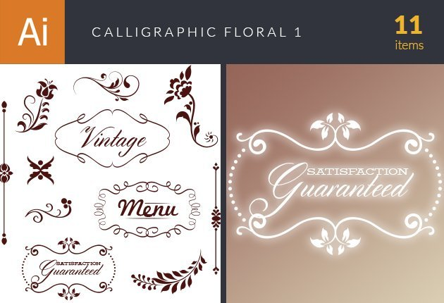 designtnt-vector-calligraphic-floral-set-1-small