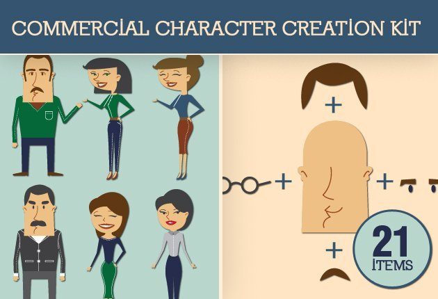 Character Design Kit : Build your own characters with this vector