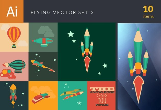 designtnt-vector-flying vector set 3-small