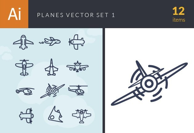 designtnt-vector-planes vector set 1-small