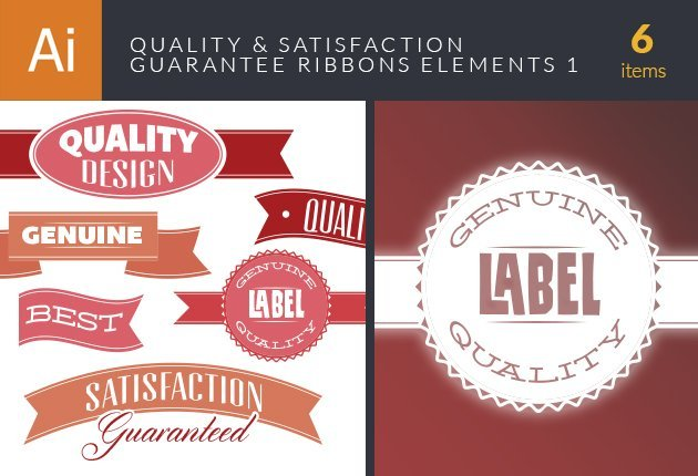 designtnt-vector-quality-and-satisfaction-guarantee-ribbons-elements-set-1-small