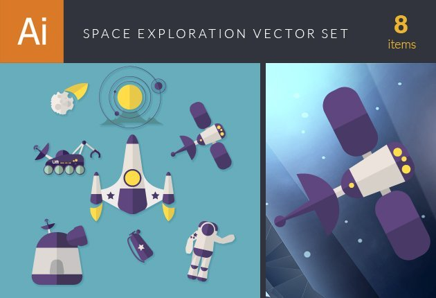designtnt-vector-space exploration vector set-small