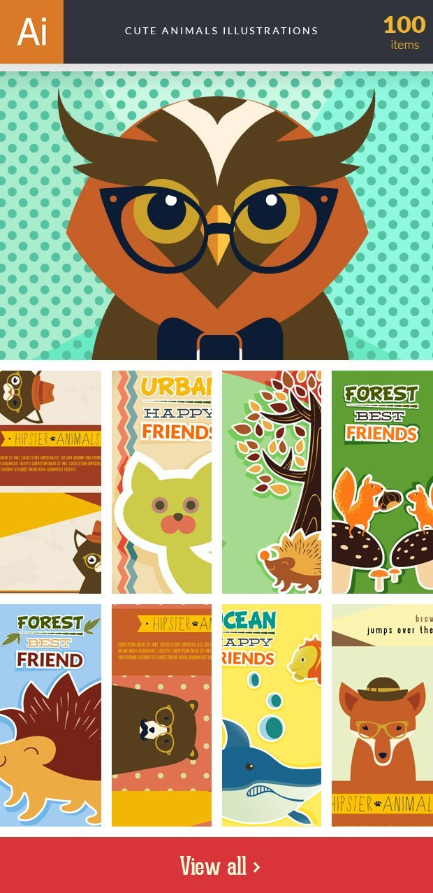 inkydeals-vector- cute animals-illustrations-small