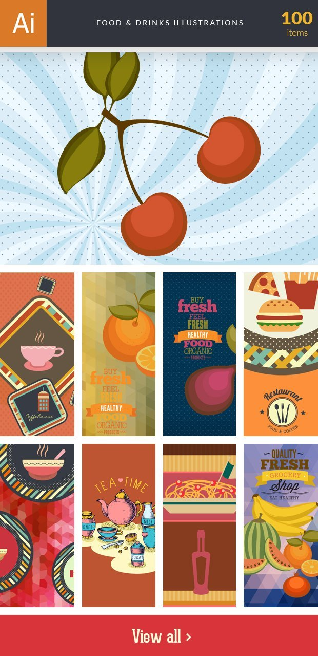 inkydeals-vector- food&drinks-illustrations-small
