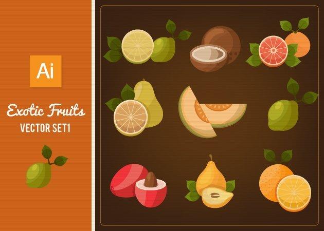 Designtnt-Vector-Exotic-Fruits-Vector-Set-1-small