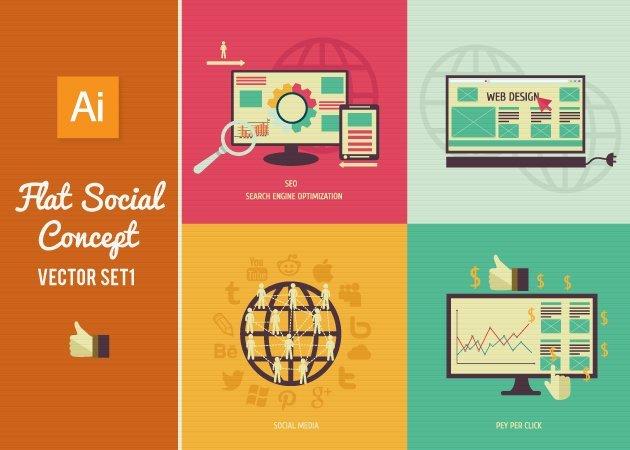 Designtnt-Vector-Flat-Social-Concept-Set1-small