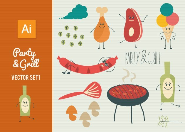 Designtnt-Vector-Party-Grill-Set-1-small