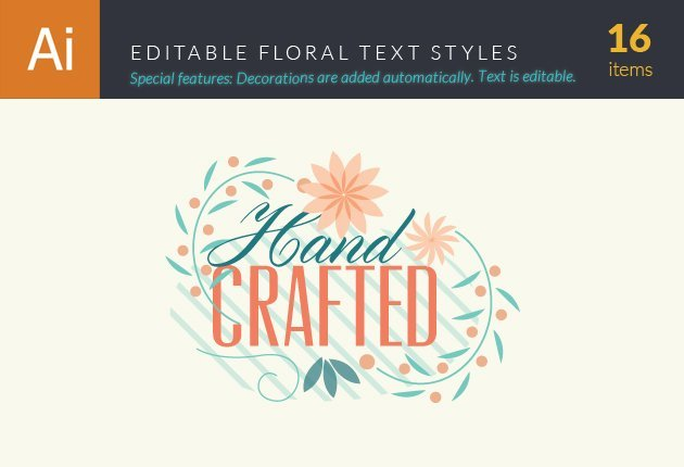 floral text styles