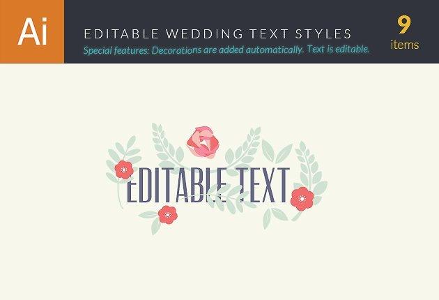 wedding text styles