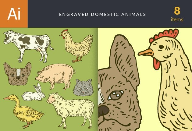 designtnt-vector-engraved-domestic-animals-small