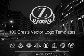 100-crests-logo-templates-preview
