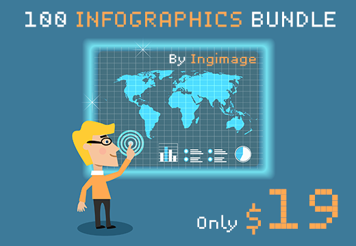 Get 100 Professional Modern Infographics from Ingimage for Only $19